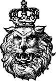 Tête du lion héraldique illustration de vecteur