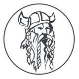 Tête du Viking illustration de vecteur