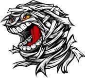 Tête effrayante criarde de monstre de Veille de la toussaint de momie Images libres de droits