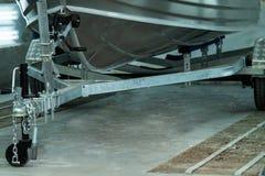 Tête en aluminium de bateau images stock