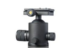 Tête en aluminium noire de trépied de boule Photographie stock libre de droits