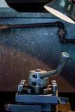 Tête en métal de machine sur l'usine Photographie stock