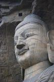 Tête en pierre de Bouddha Photo libre de droits