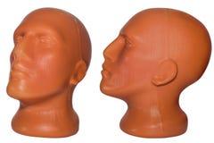 Tête en plastique de mannequin Photographie stock libre de droits