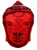 Tête en verre rouge de Bouddha image stock