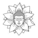Tête et Lotus de Bouddha illustration libre de droits