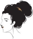tête femelle illustration stock
