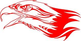 Tête flamboyante 3 d'aigle Photo libre de droits