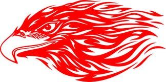 Tête flamboyante 4 d'aigle illustration de vecteur