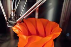 tête fonctionnante de l'imprimante 3d Image stock