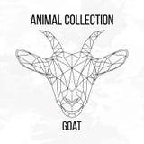 Tête géométrique de chèvre Images libres de droits