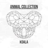 Tête géométrique de koala Photographie stock