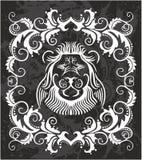 Tête héraldique de lion illustration stock