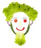 Tête humaine heureuse faite de légumes Photos libres de droits