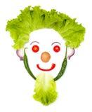 Tête humaine heureuse faite de légumes Photo libre de droits
