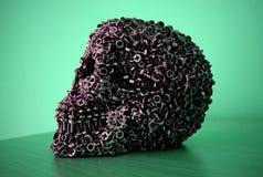 Tête mécanique de crâne image stock
