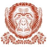 Tête modelée de singe Image stock