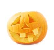 tête orange de potiron de Jack-o'-lanternes d'isolement Photo libre de droits
