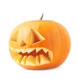 tête orange de potiron de Jack-o'-lanternes d'isolement Image libre de droits