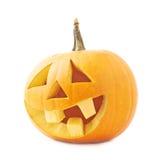 tête orange de potiron de Jack-o'-lanternes d'isolement Image stock