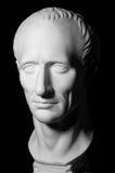Tête plâtreuse blanche d'un homme, profil, Image stock