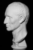 Tête plâtreuse blanche d'un homme, profil, Photo libre de droits