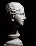 Tête plâtreuse blanche d'une femme Photographie stock libre de droits