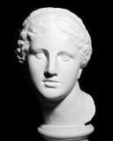 Tête plâtreuse blanche d'une femme Images libres de droits