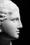 Tête plâtreuse blanche d'une femme Photos stock