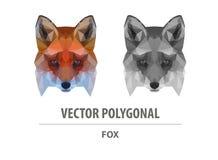 Tête polygonale de couleur de renard de vecteur illustration de vecteur
