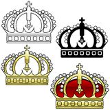 Tête royale A illustration stock