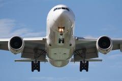 Tête sur l'avion Photographie stock