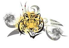 Tête tribale de léopard Photos stock