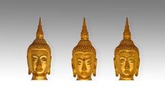 Têtes d'isolat de Bouddha photographie stock libre de droits