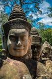 Têtes de Bouddha dans Angkor, Cambodge Photographie stock libre de droits