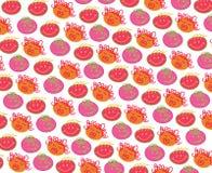 Têtes de Bubblegum de polka Photo stock