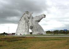 Têtes de cheval géantes : Les Kelpies Images libres de droits