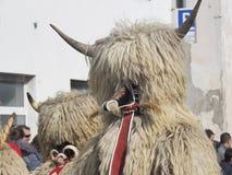 Têtes de costume de Kurent photo libre de droits
