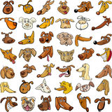 Têtes de crabots drôles de dessin animé réglées Photo libre de droits