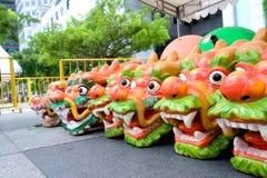 Têtes de dragon pour le bateau images stock
