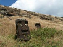 Têtes de Moai Photos stock