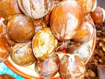 Têtes de noix de coco sans coquille photographie stock