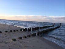 Têtes de Polonais dans le sable Photo libre de droits