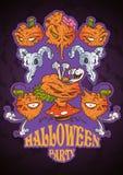 Têtes de potiron de Halloween photo stock