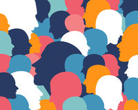 Têtes de profil de personnes illustration de vecteur
