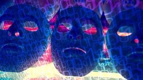 Têtes de robot pour l'intelligence artificielle, cybersecurity de bogue informatique illustration de vecteur