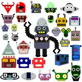 Têtes de robots illustration stock