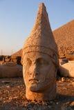 Têtes des statues colossales sur le support Nemrut Photo libre de droits