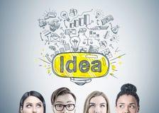 Têtes diverses de membres de l'équipe d'affaires, idée Photographie stock