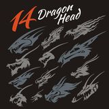 Têtes du dragon Image stock